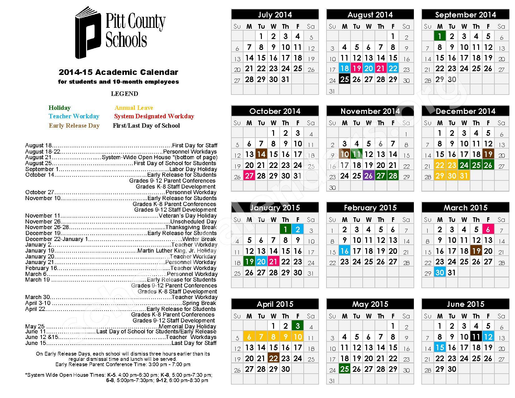 ... Calendar 2014 2015 School Calendar.Hernando County School Calendar