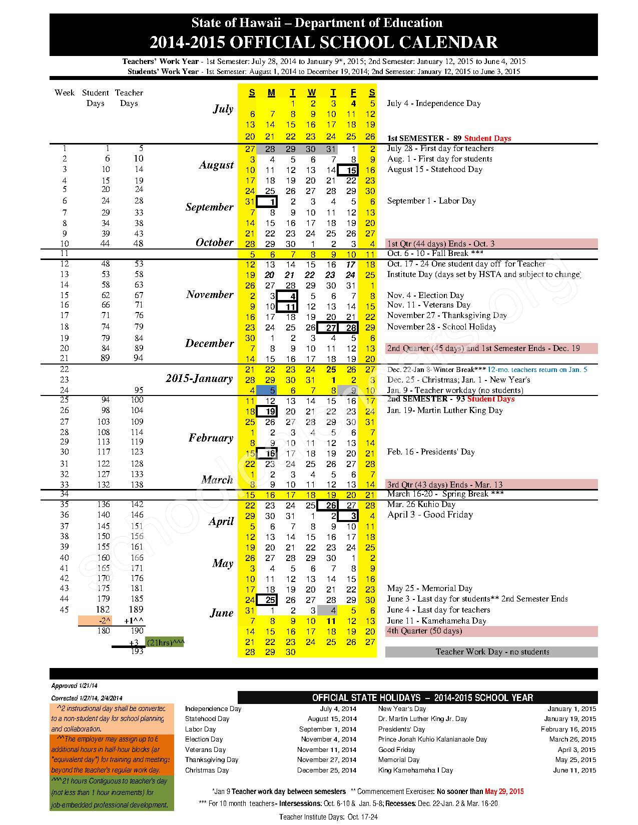 School Calendars Google