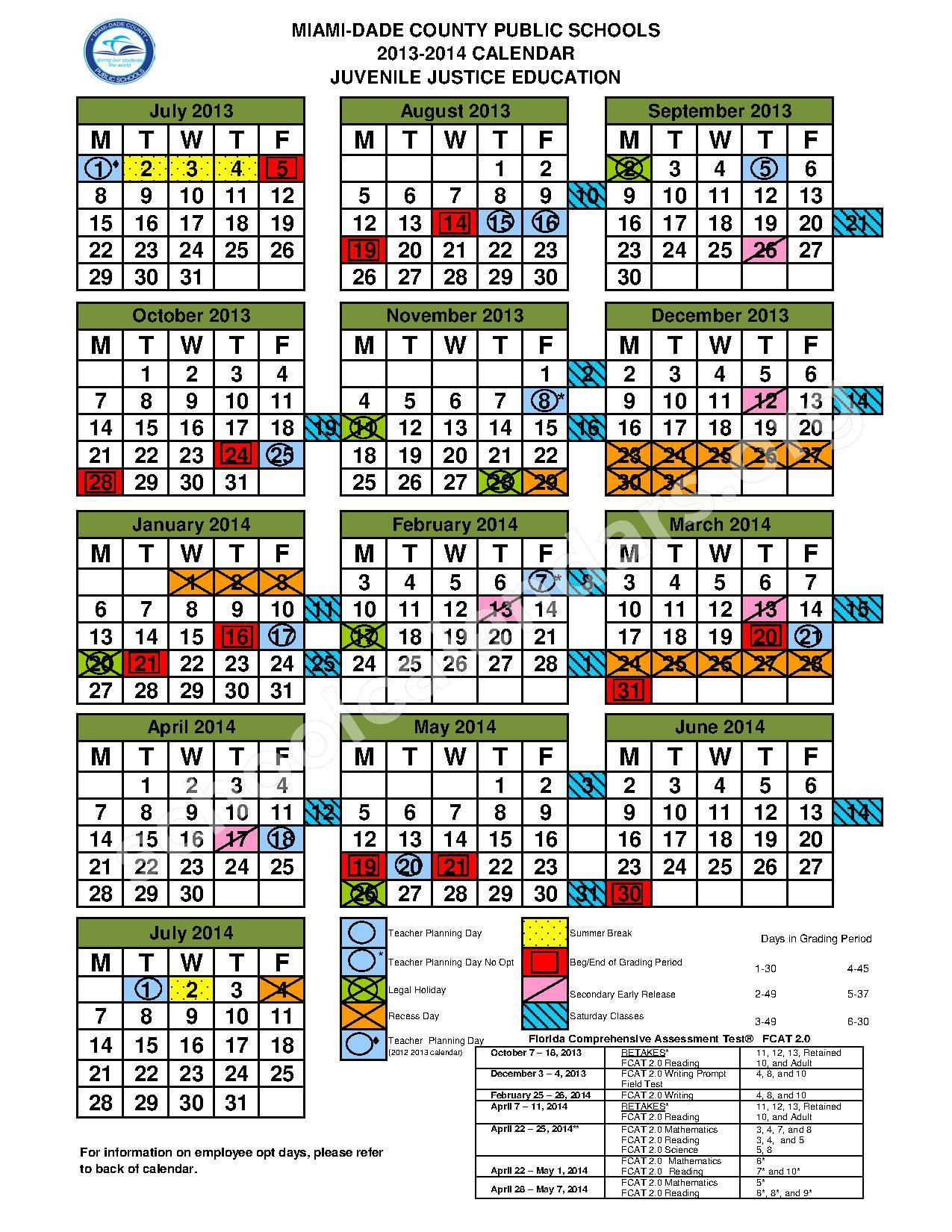 School Calendar 2016 Miami Dade : Miami dade school calendar