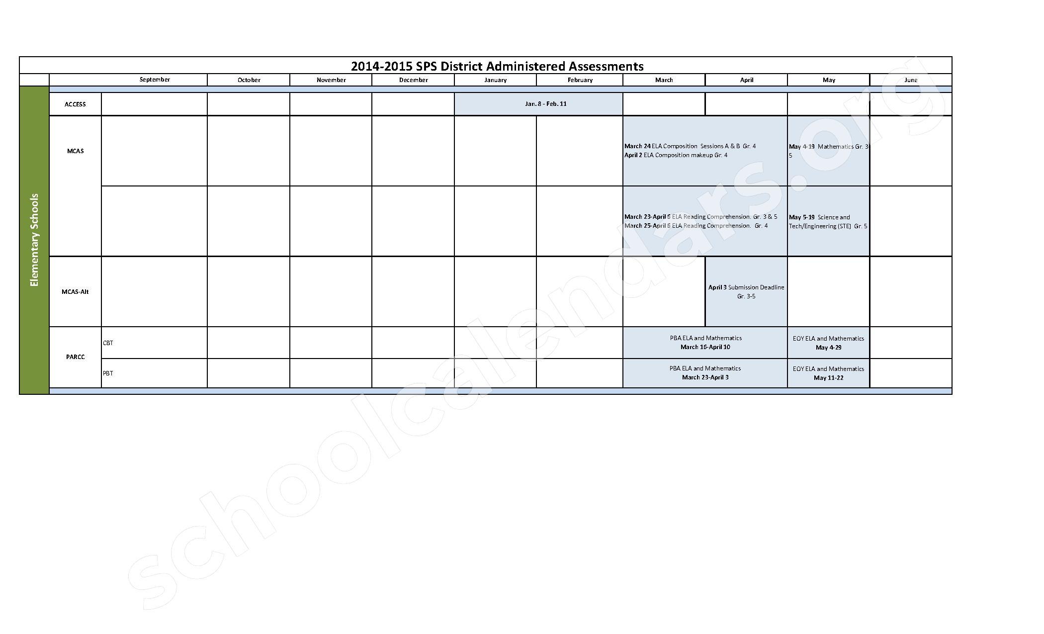 Annual Assessment Calendar . Assessment@Carolina Reporting Calendar 2017 18  ; August 25, 2017: U2026 Student Learning Outcomes Assessment Plan Template;