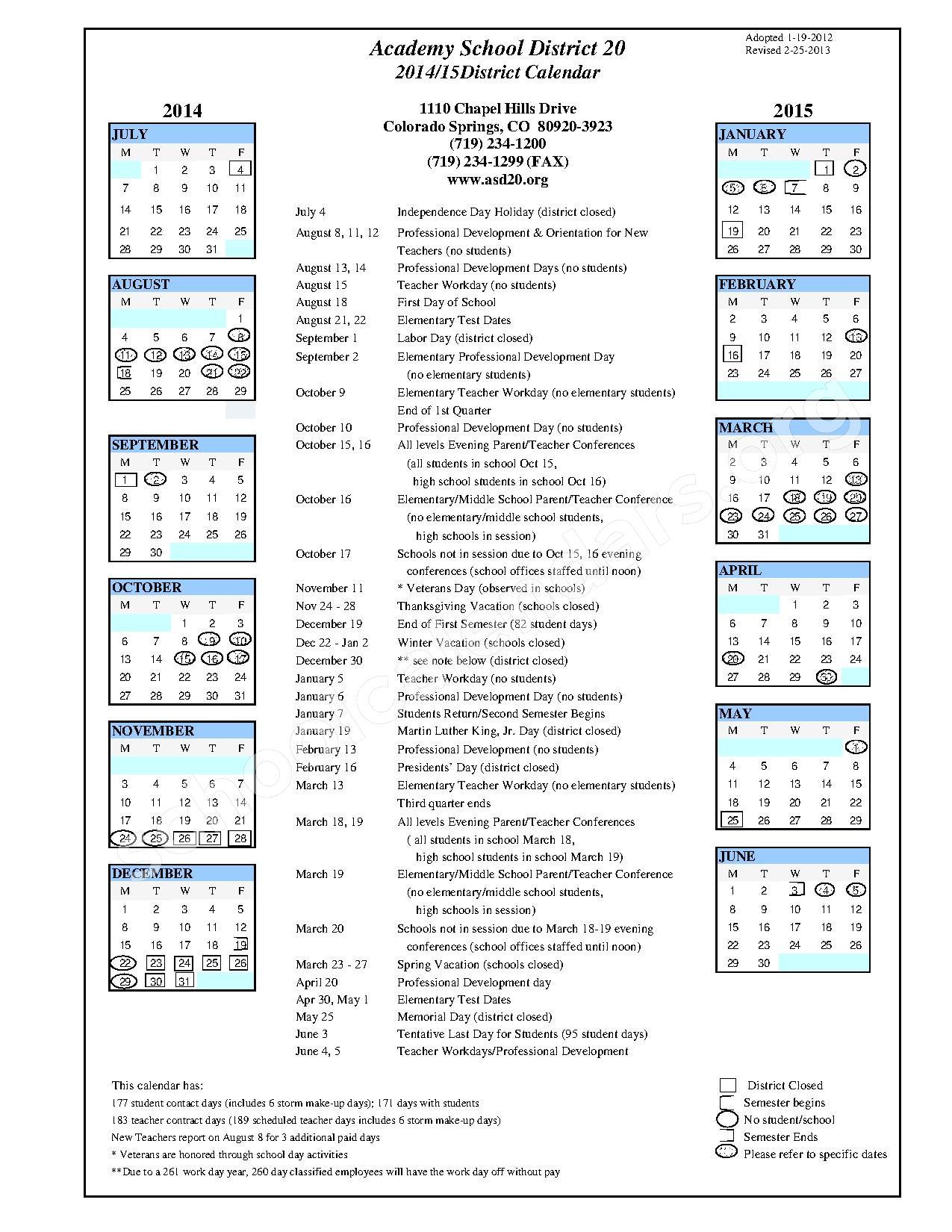 2013 2014 2015 Calendar Adopted d20 calendar 2014-2015