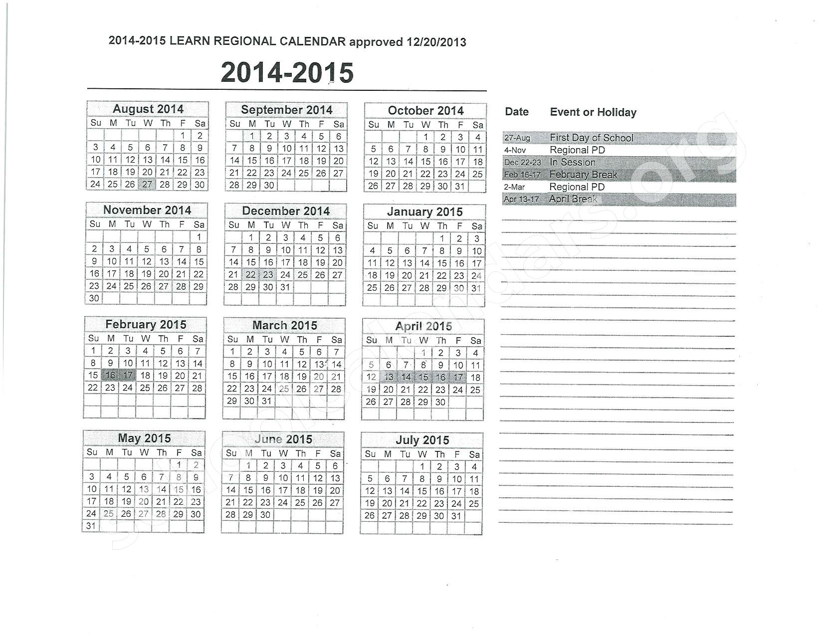 Calendars Home North East Independent School District 5978295