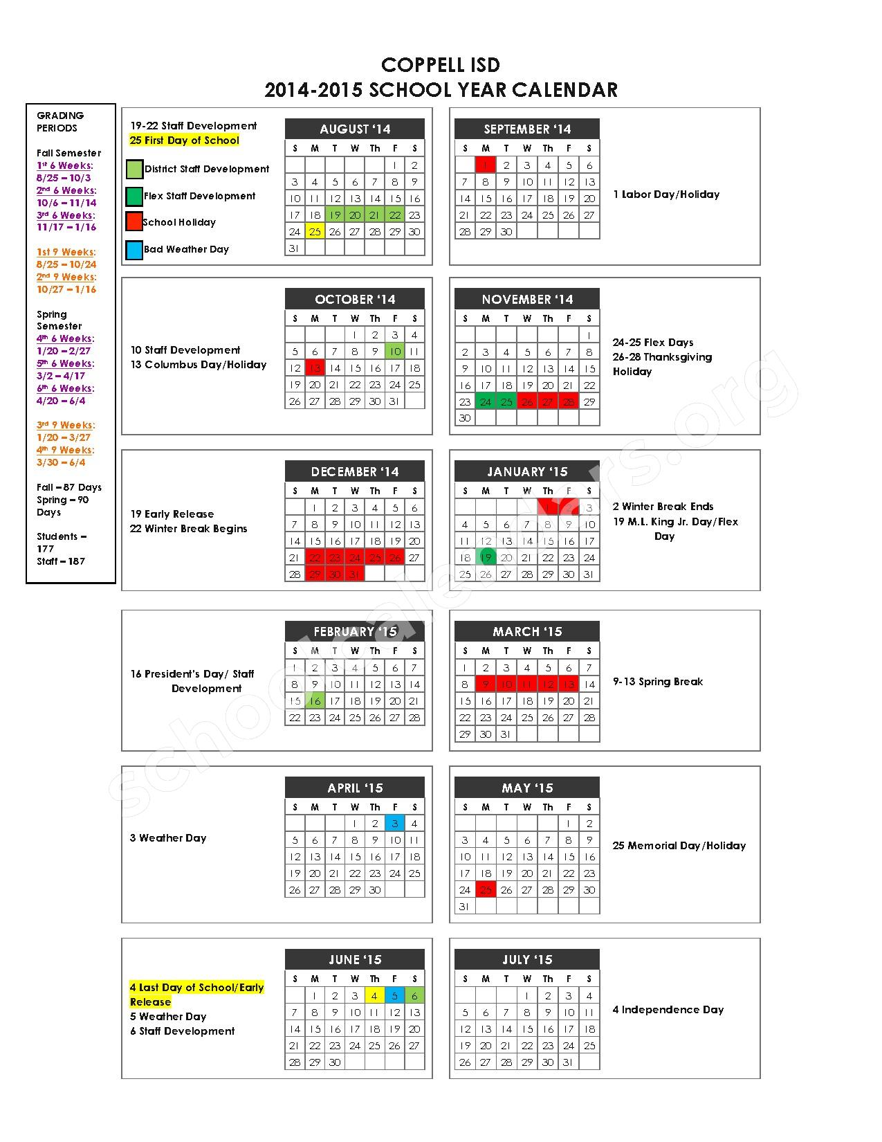 coppell isd calendar 2015 2016 Music Search Engine at Search
