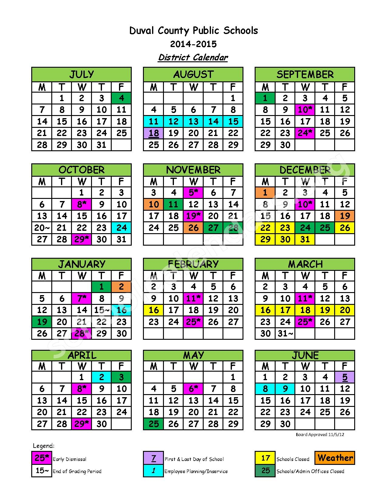 District Google Calendar 2014 2015 District Calendar School Supplies ...