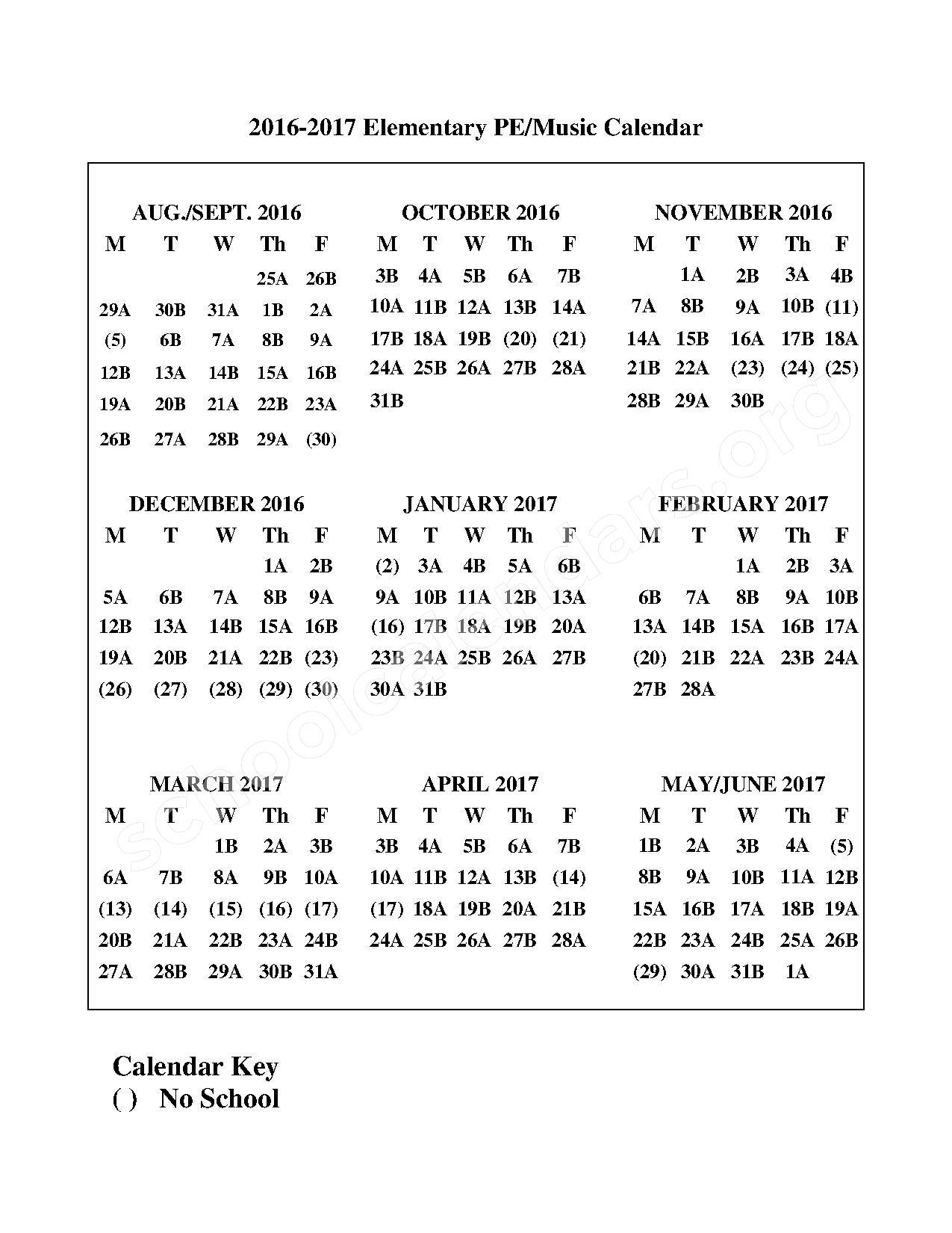 2016 - 2017 A/B Block Schedule – Fargo Public Schools – page 1