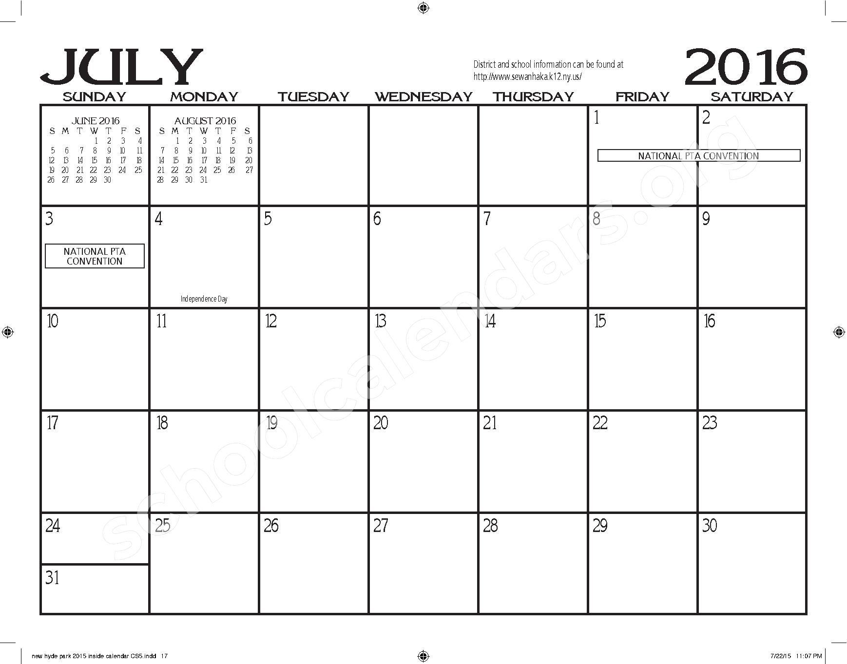 2015 - 2016 New Hyde Park Memorial HS Calendar – New Hyde Park Memorial High School – page 17