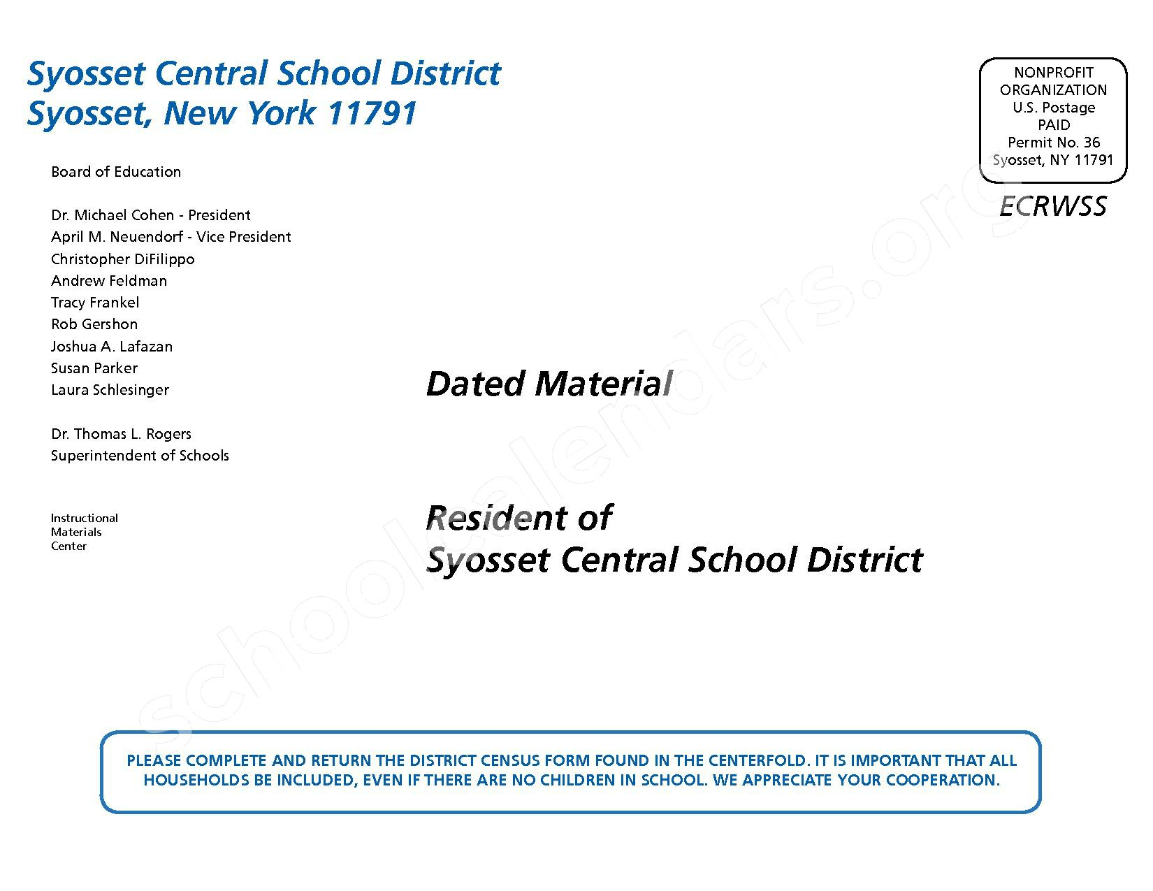 2015 - 2016 District Calendar – Syosset Central School District – page 56
