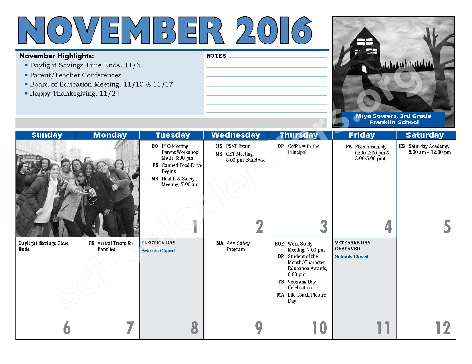 2016 - 2017 District Calendar – Hempstead Union Free School District – page 12