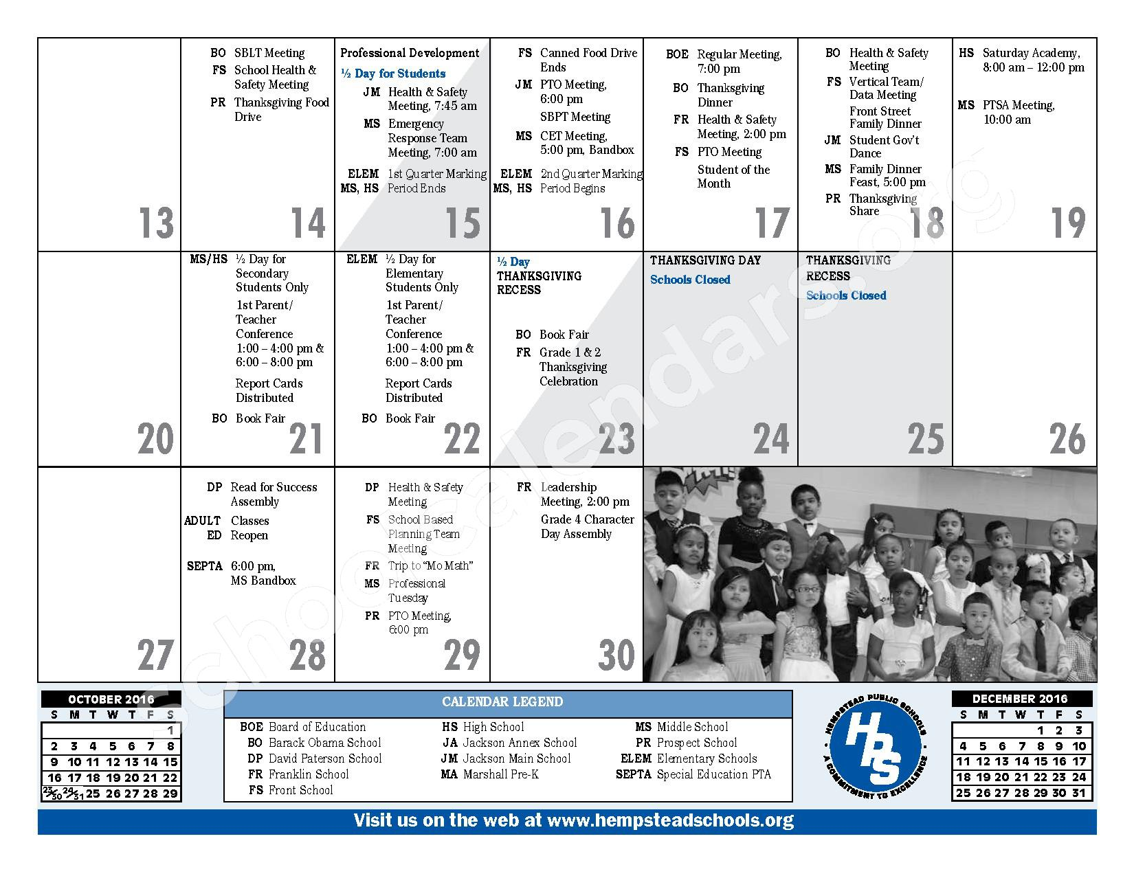 2016 - 2017 District Calendar – Hempstead Union Free School District – page 13