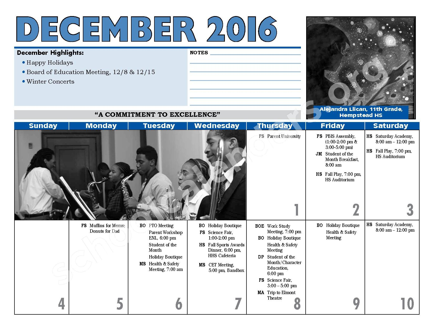 2016 - 2017 District Calendar – Hempstead Union Free School District – page 14