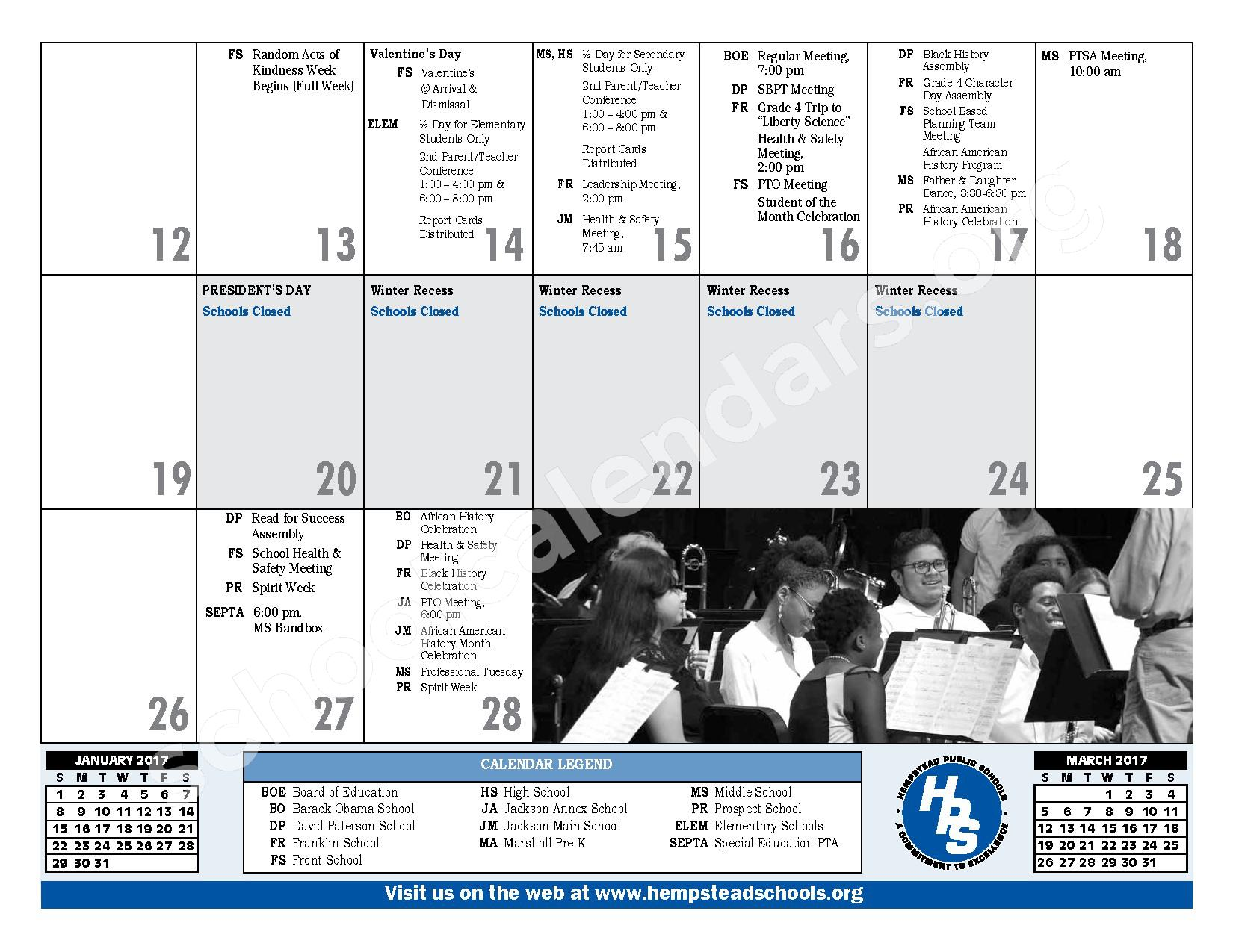 2016 - 2017 District Calendar – Hempstead Union Free School District – page 19