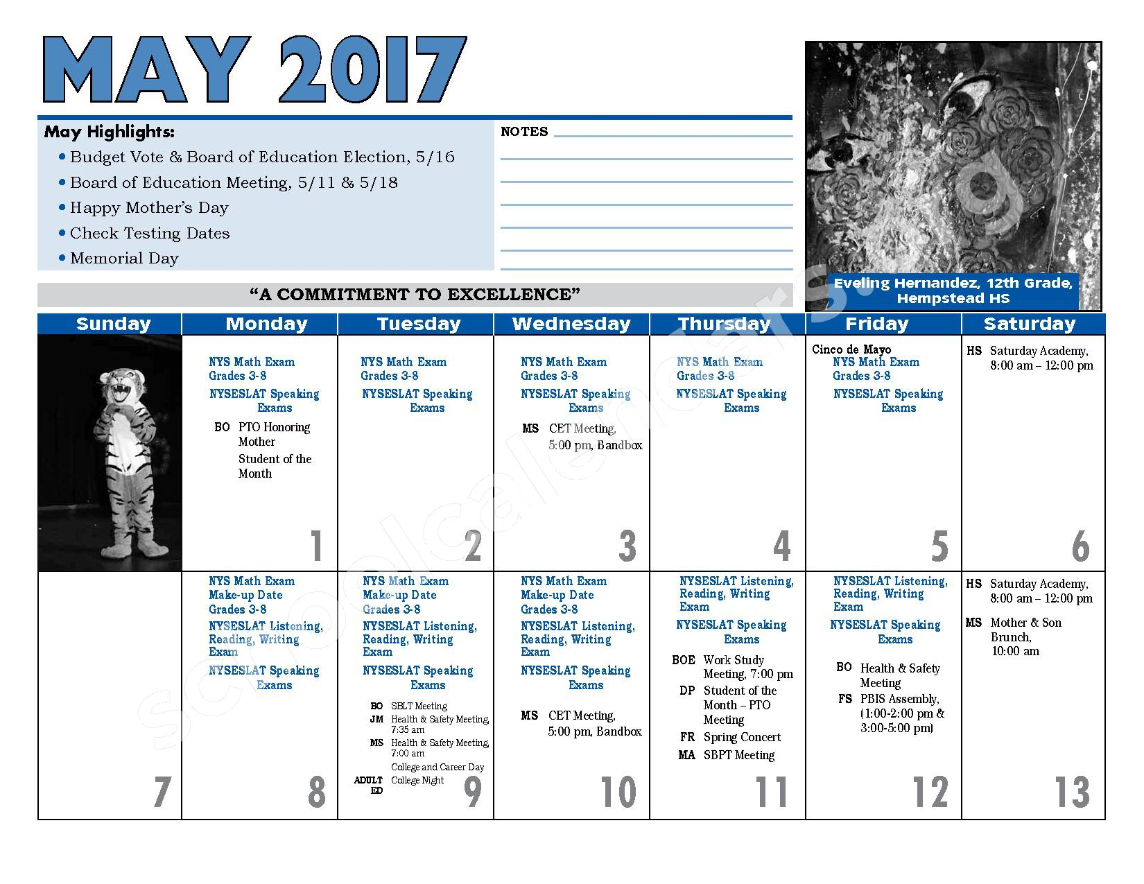 2016 - 2017 District Calendar – Hempstead Union Free School District – page 24