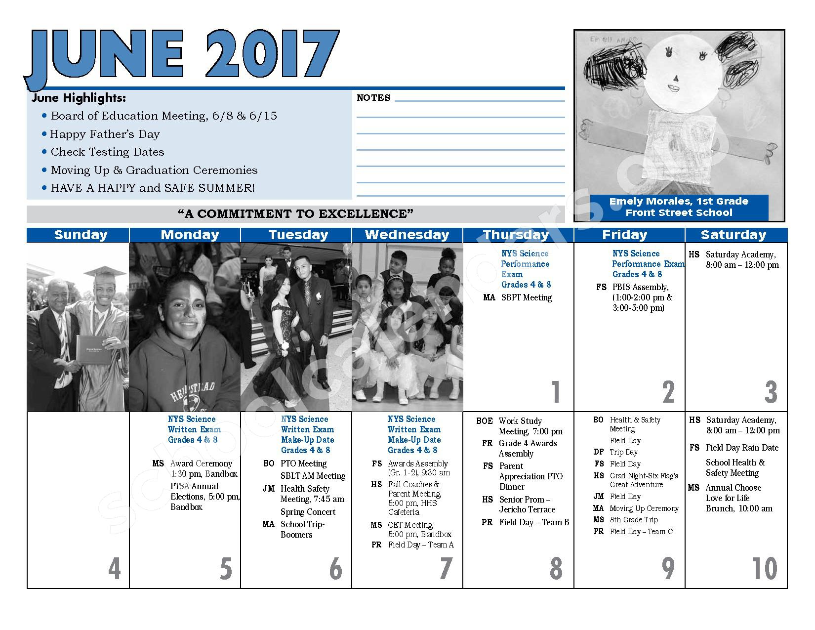 2016 - 2017 District Calendar – Hempstead Union Free School District – page 26