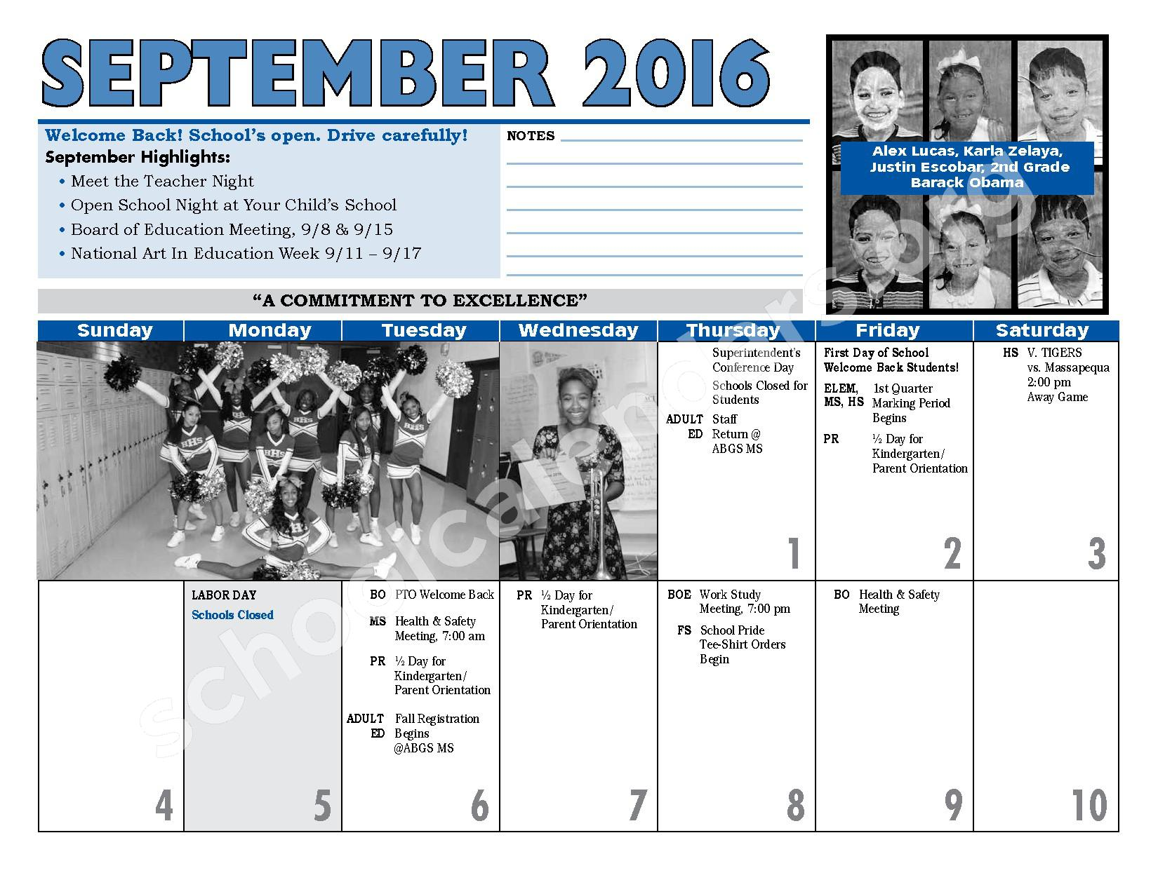 2016 - 2017 District Calendar – Hempstead Union Free School District – page 8