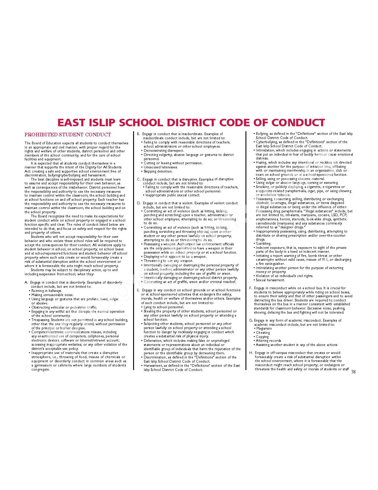 2016 - 2017 District Calendar – East Islip Union Free School District – page 39
