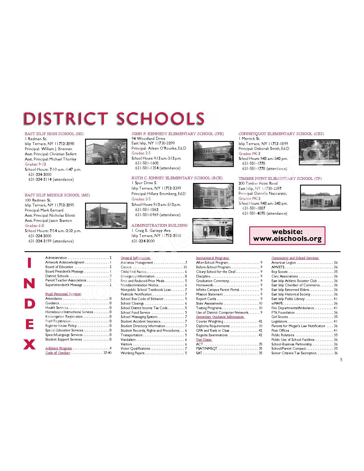 2016 - 2017 District Calendar – East Islip Union Free School District – page 4