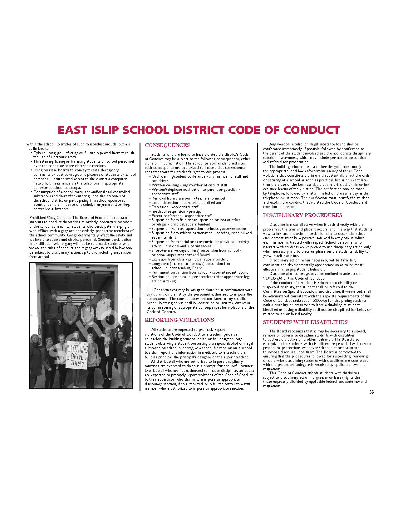 2016 - 2017 District Calendar – East Islip Union Free School District – page 40