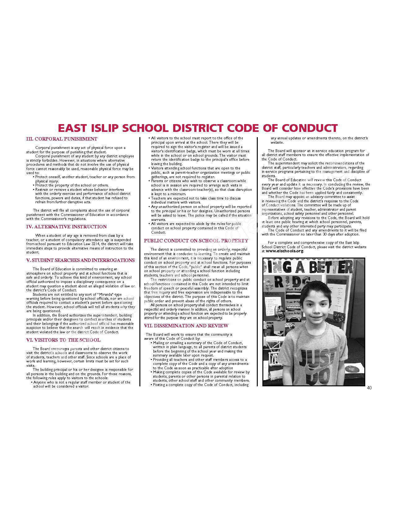2016 - 2017 District Calendar – East Islip Union Free School District – page 41