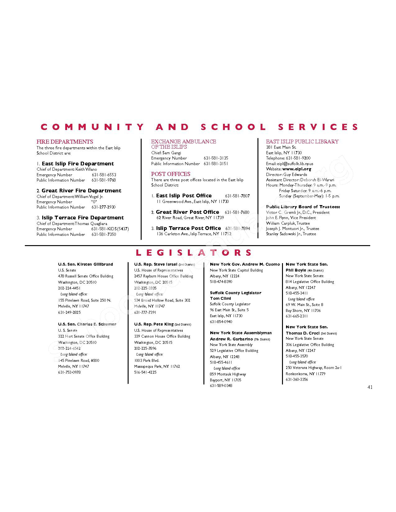 2016 - 2017 District Calendar – East Islip Union Free School District – page 42