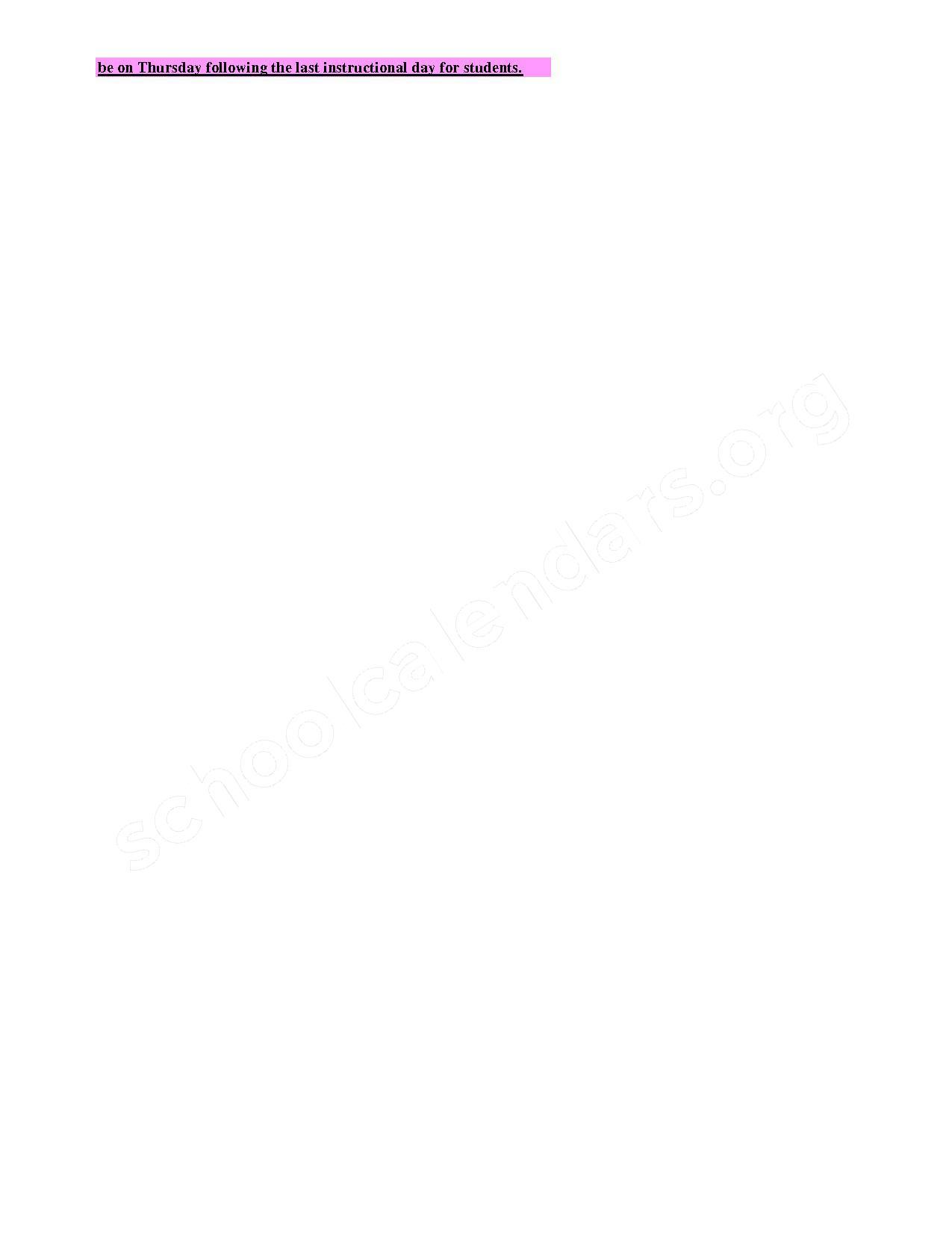 2017 - 2018 Employee Calendar – Boyd County School District – page 2