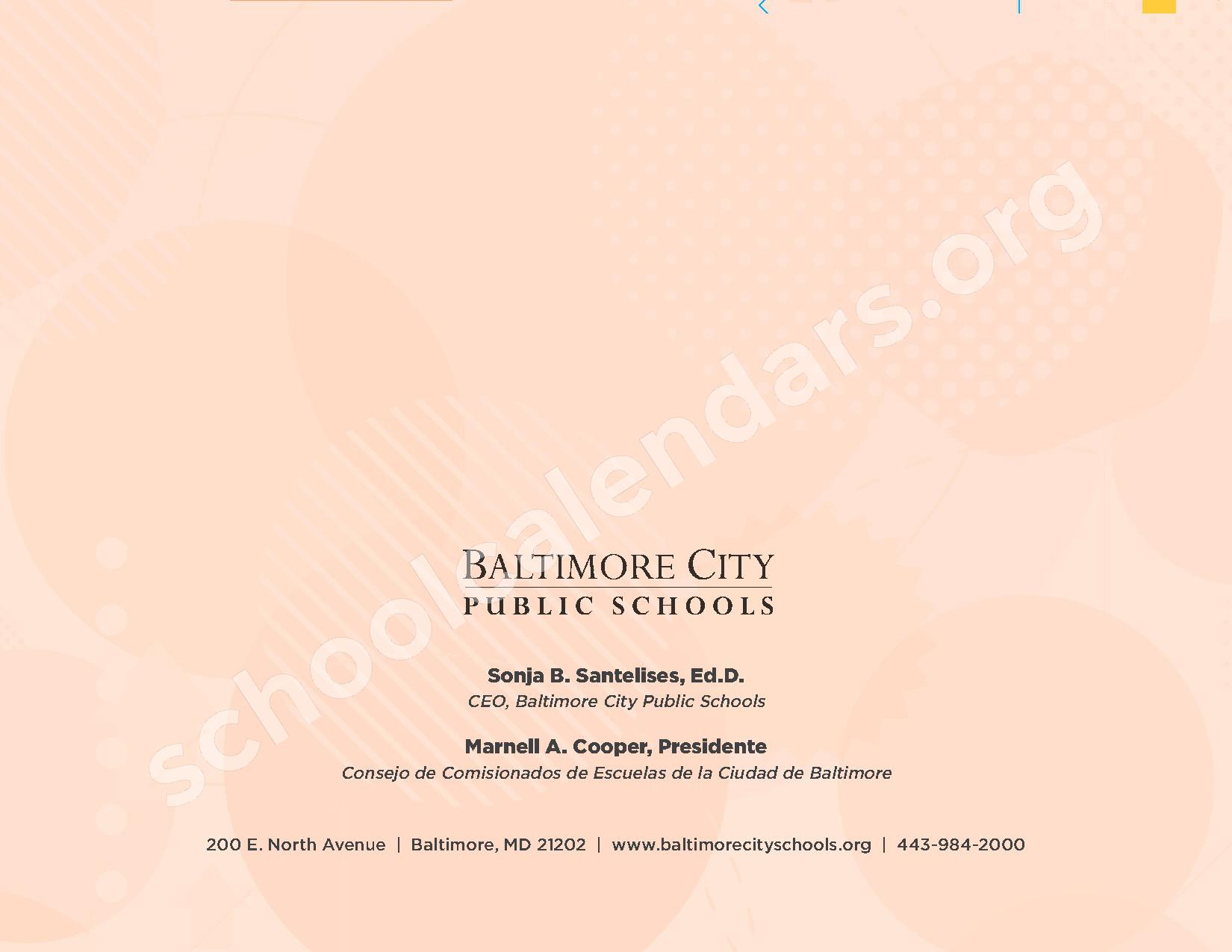 2016 - 2017 Calendario Escolar – Belmont Elementary School – page 16