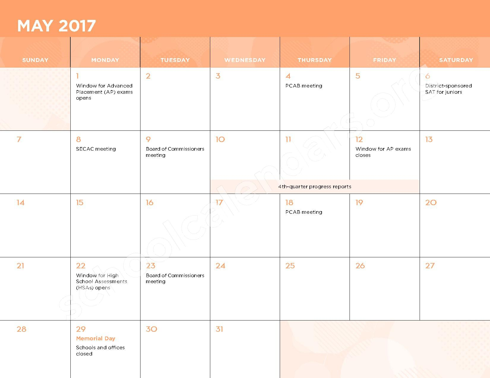 2016 - 2017 School Calendar – Kasa (Knowledge and Success Academy) – page 12