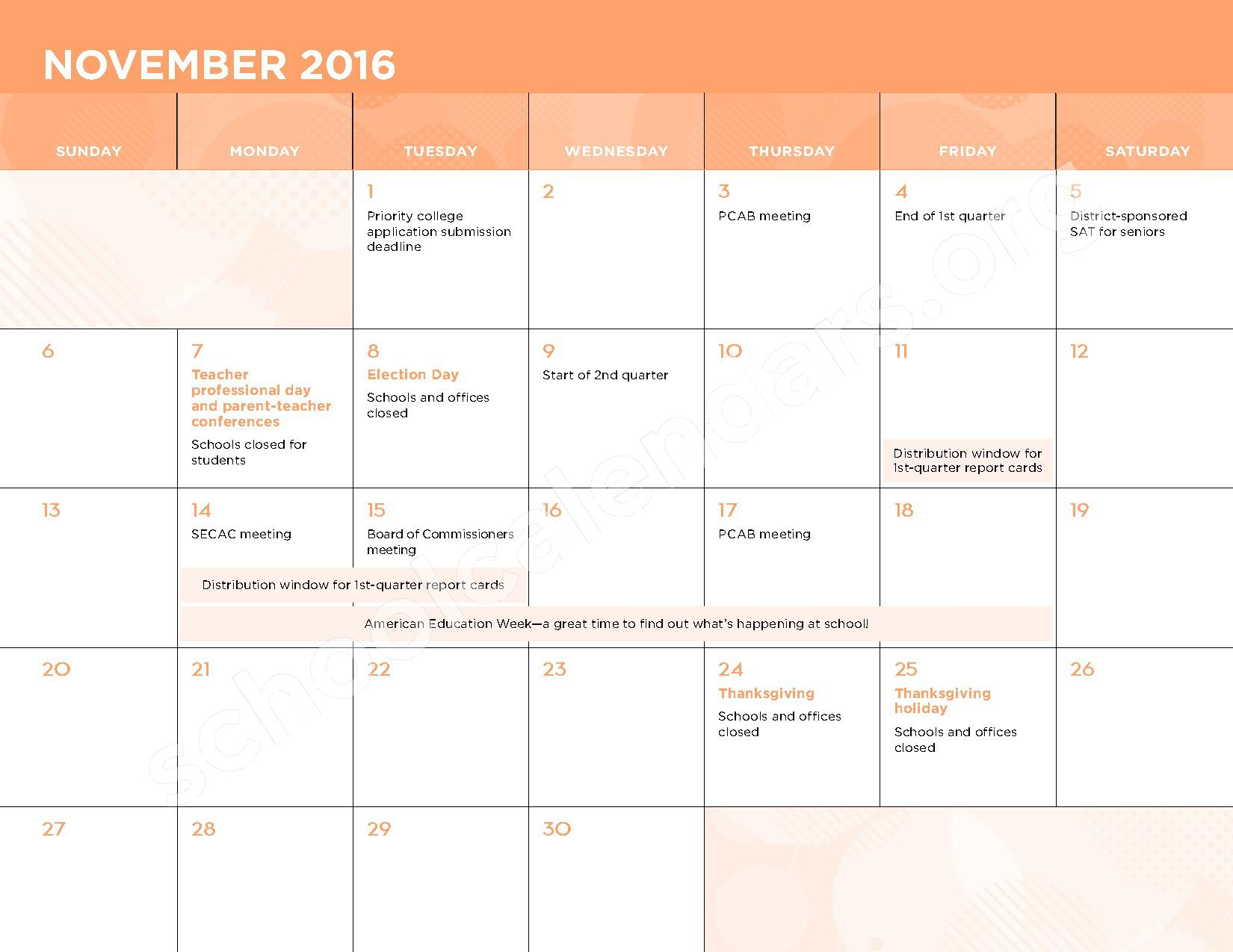 2016 - 2017 School Calendar – Kasa (Knowledge and Success Academy) – page 6