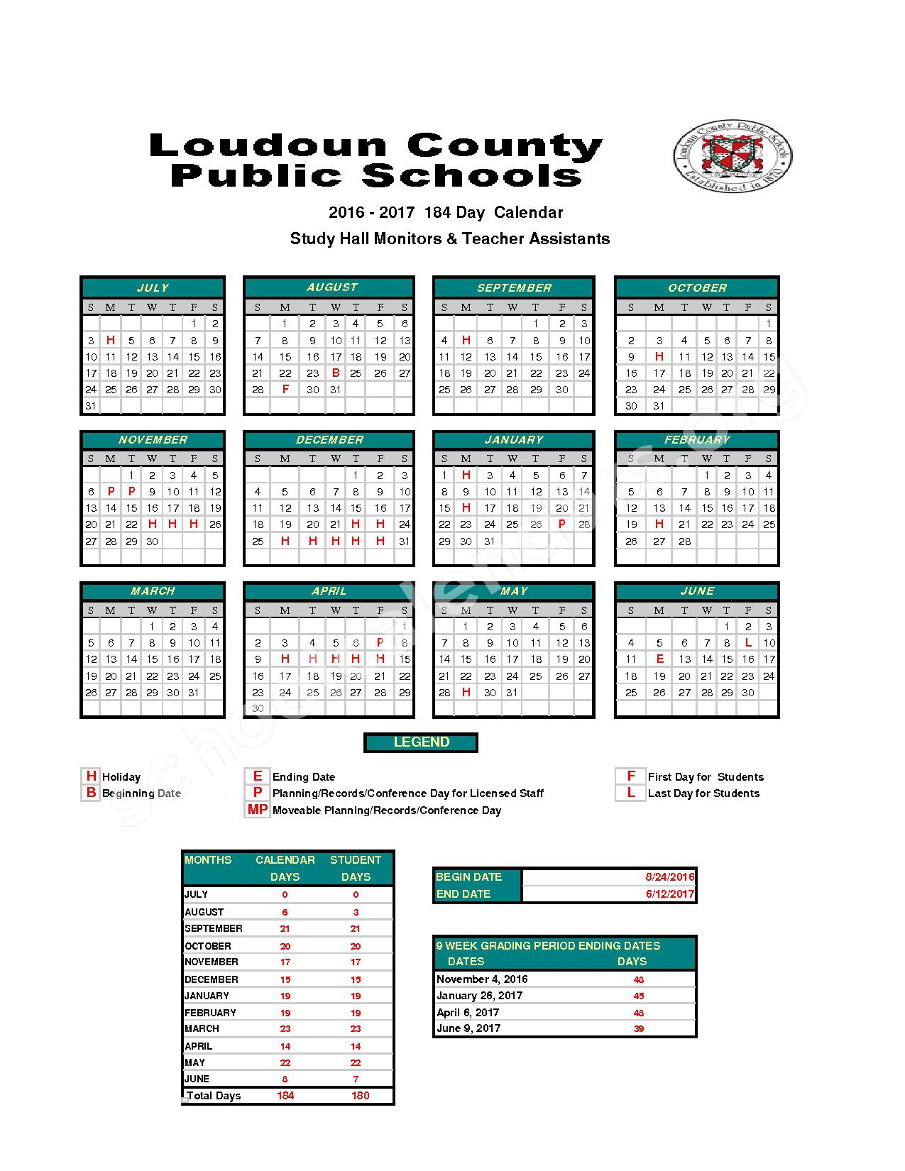 Loudoun County School Calendar 2018 Aigb