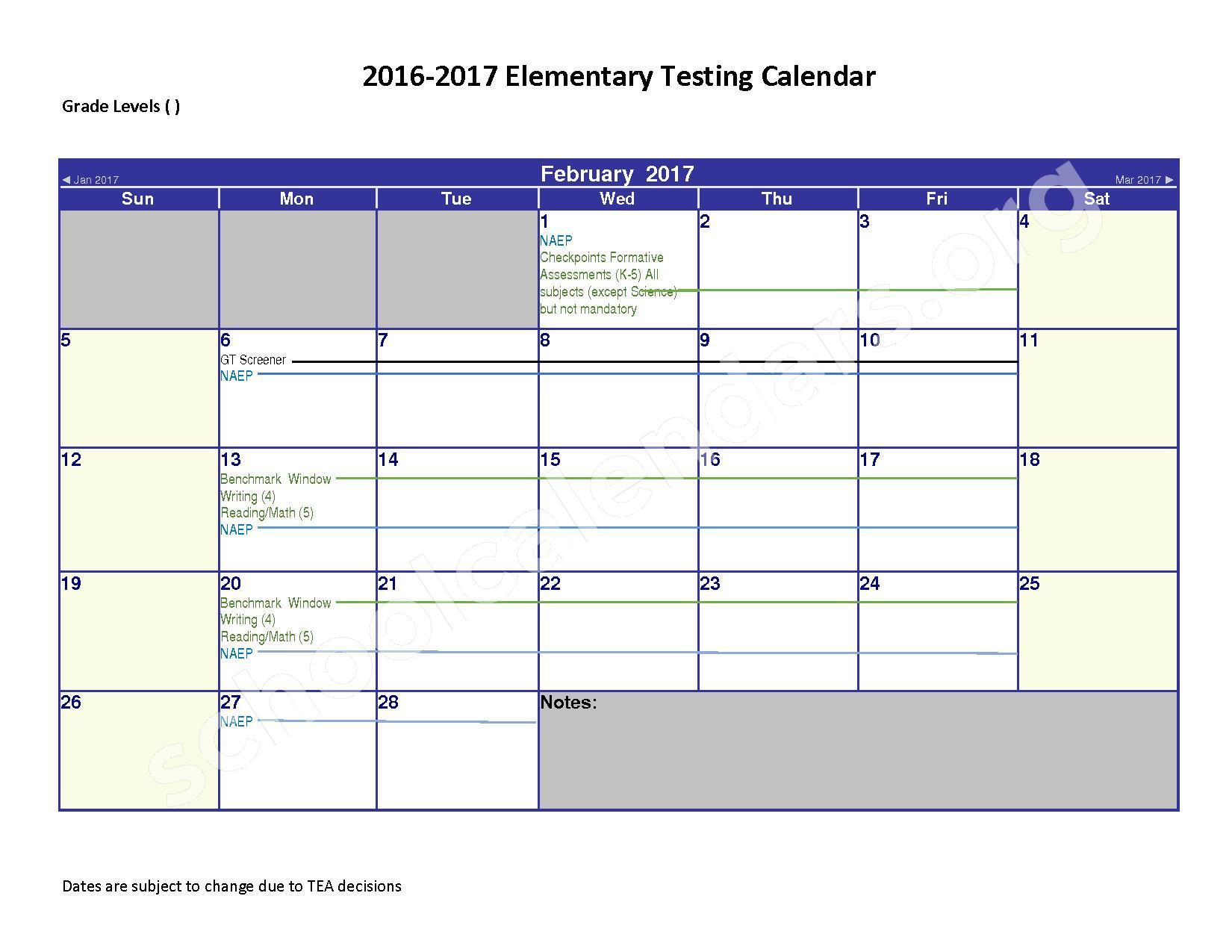 2016 - 2017 District Calendar – Spring Independent School District – page 2