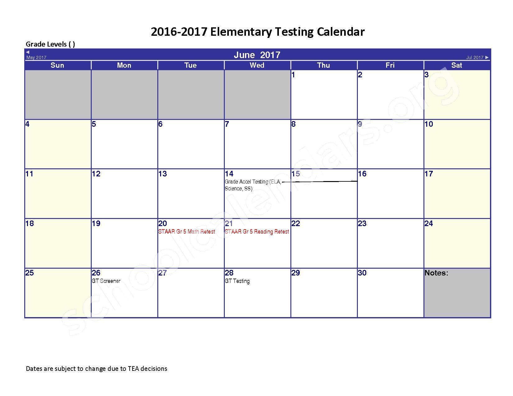 2016 - 2017 District Calendar – Spring Independent School District – page 6