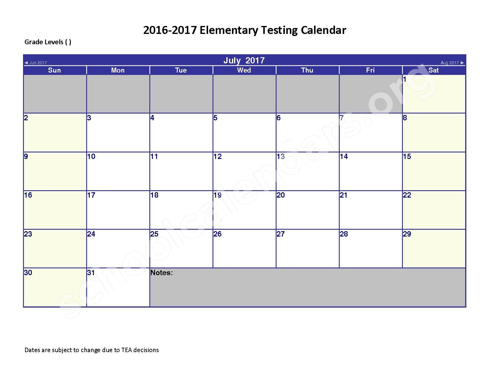 2016 - 2017 District Calendar – Spring Independent School District – page 7