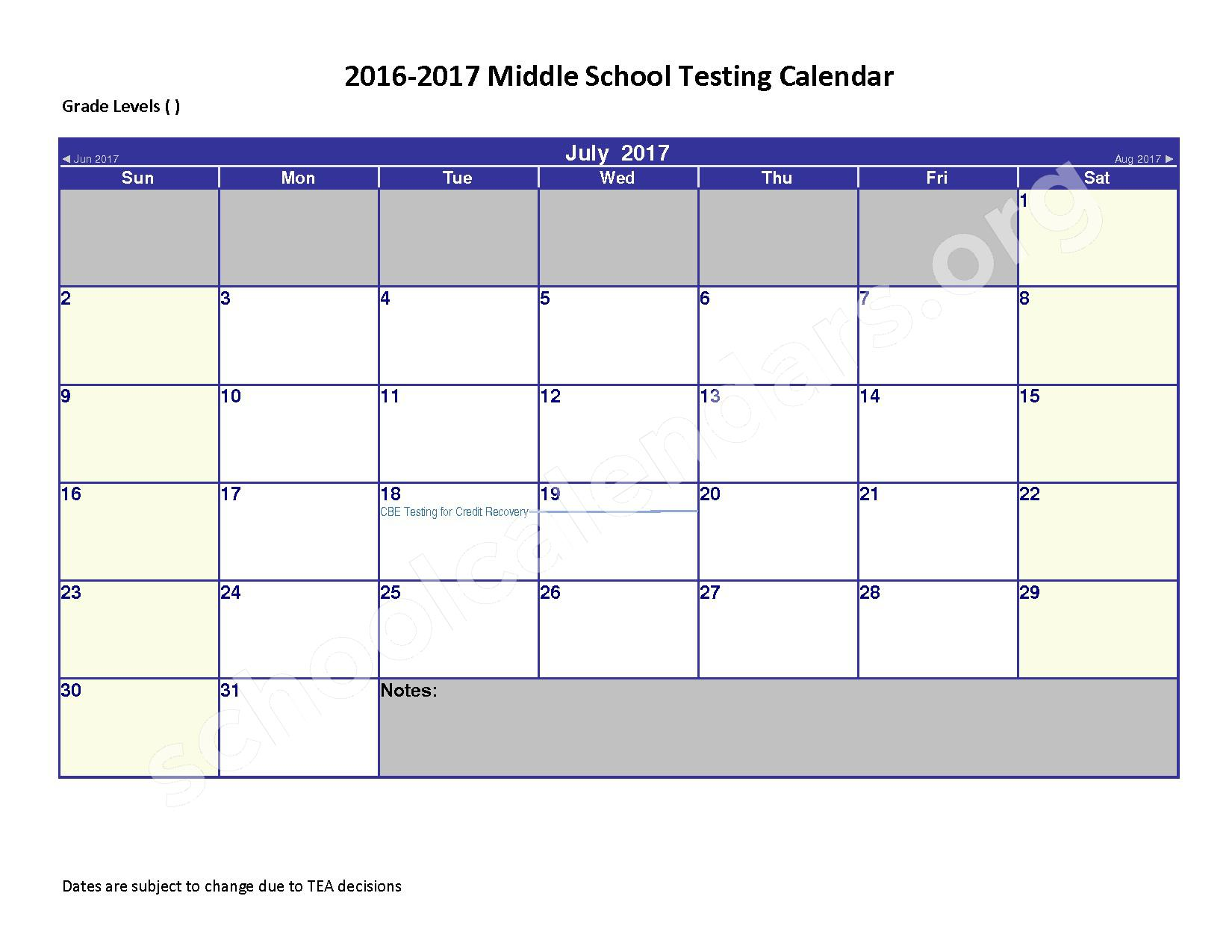 2016 - 2017 District Calendar – Spring Independent School District – page 7