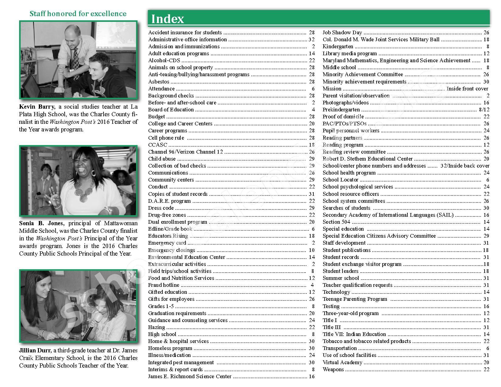 2016 - 2017 School Calendar – Charles County Public Schools – page 3