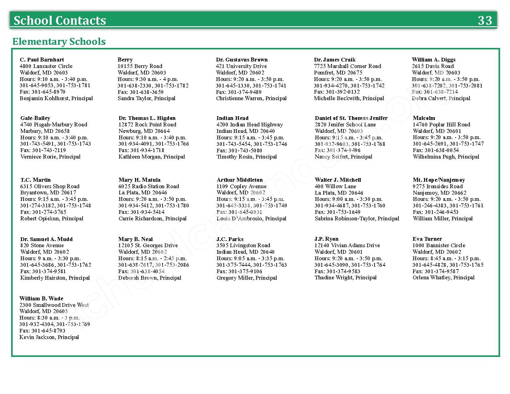 2016 - 2017 School Calendar – Charles County Public Schools – page 36
