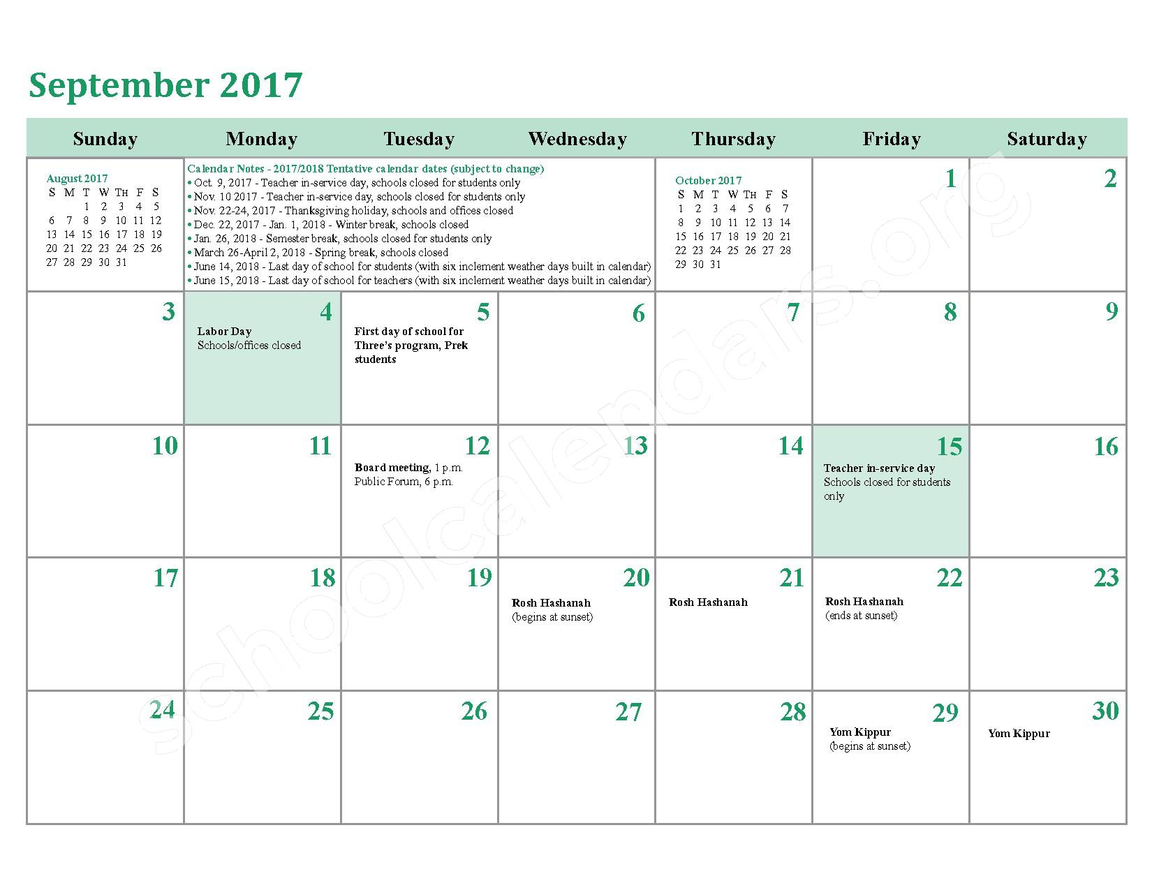 2016 - 2017 District Calendar – Berry Elementary School – page 30