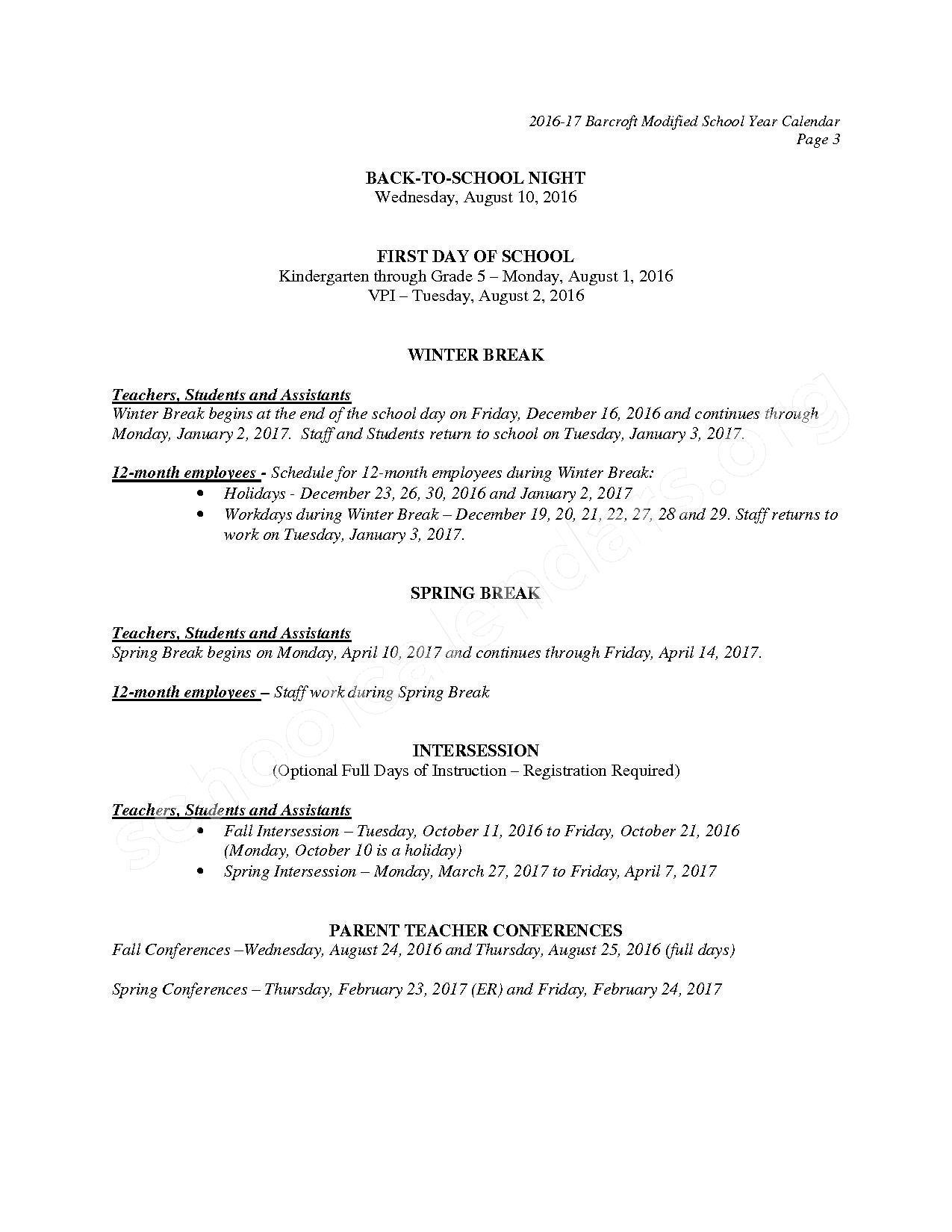 2016 - 2017 Barcroft Calendar – Barcroft Elementary School – page 4