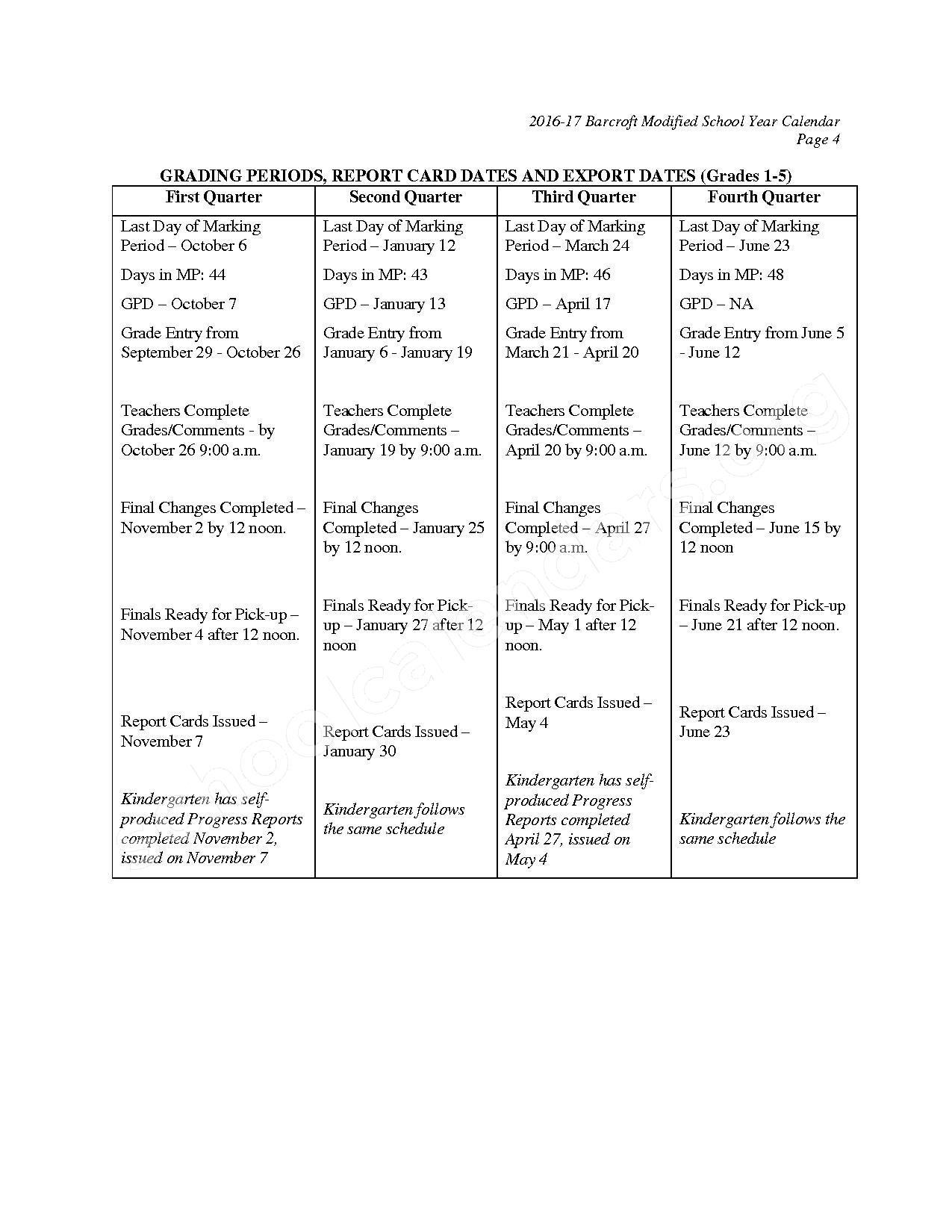2016 - 2017 Barcroft Calendar – Barcroft Elementary School – page 5