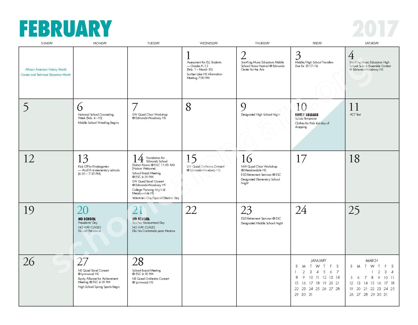 2016 - 2017 ESD Calendar and Parent Handbook – College Place Elementary School – page 15