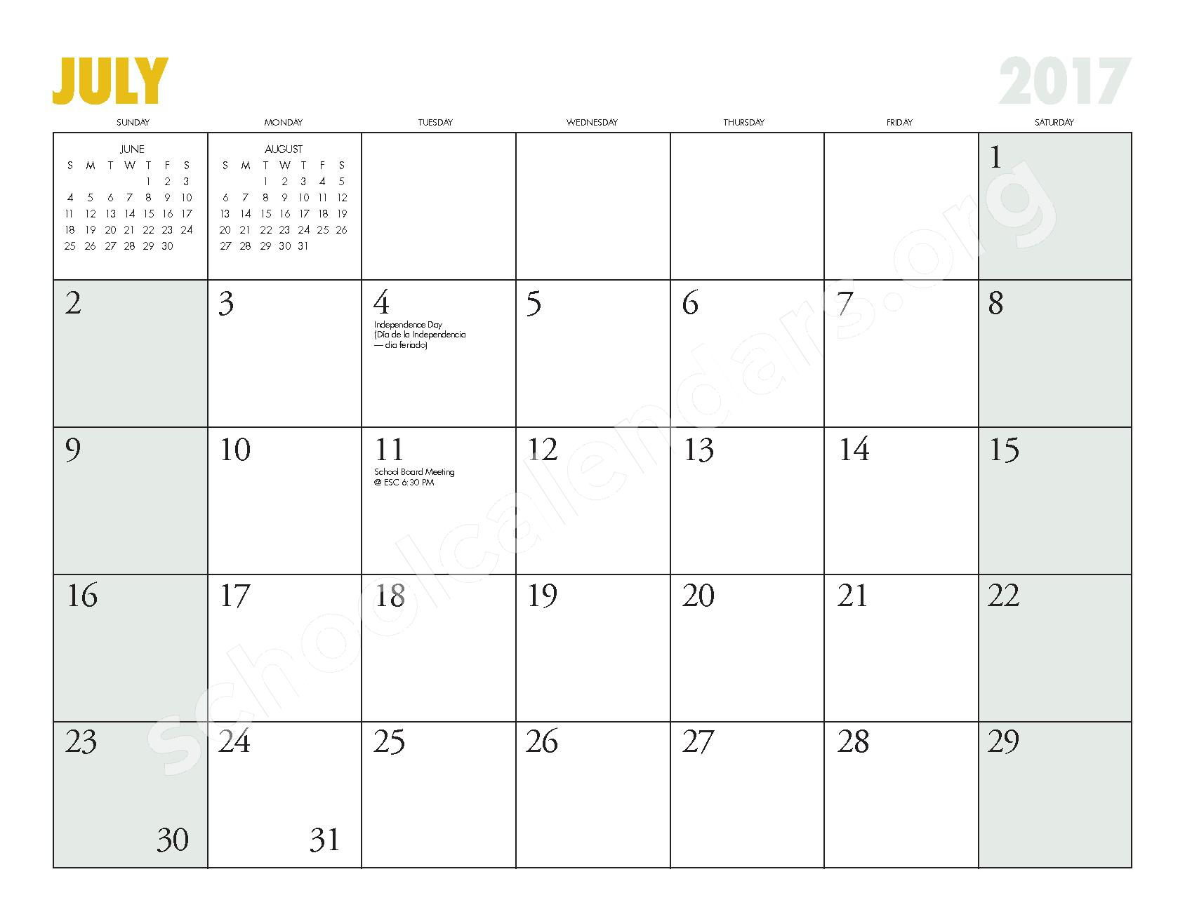 2016 - 2017 ESD Calendar and Parent Handbook – College Place Elementary School – page 25