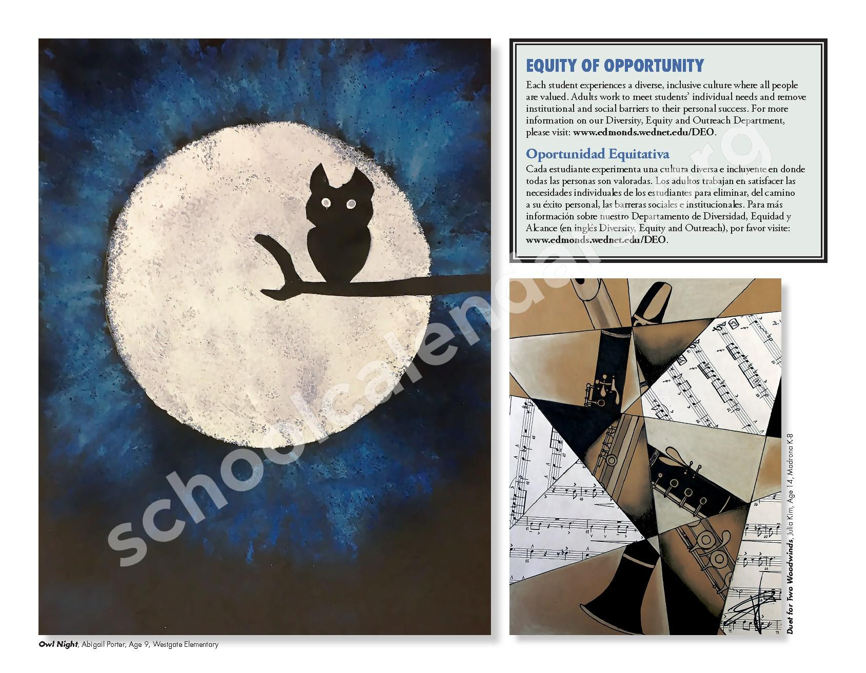 2016 - 2017 ESD Calendar and Parent Handbook – College Place Elementary School – page 6
