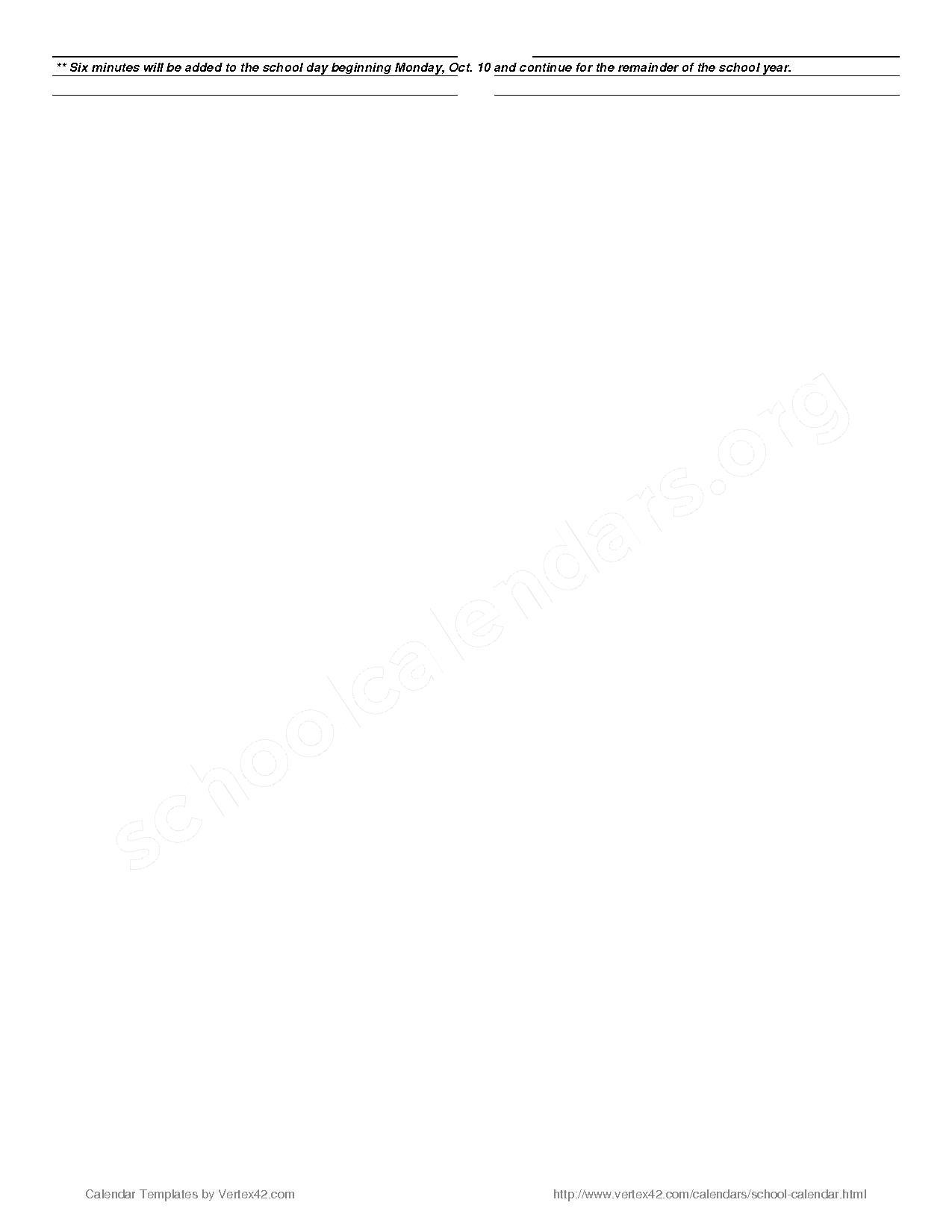 2016 - 2017 School Calendar – Martha Vinyard Elementary School – page 2