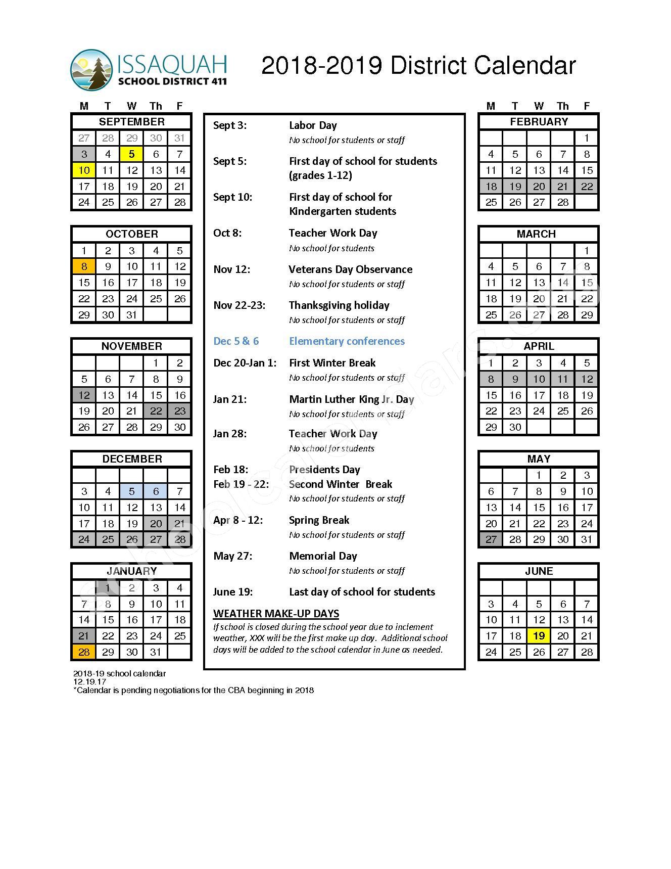 Apollo Elementary School Calendars Renton Wa