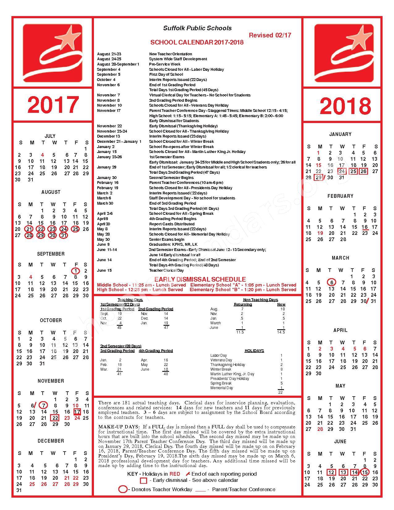 Suffolk Public Schools Calendars – Suffolk, VA