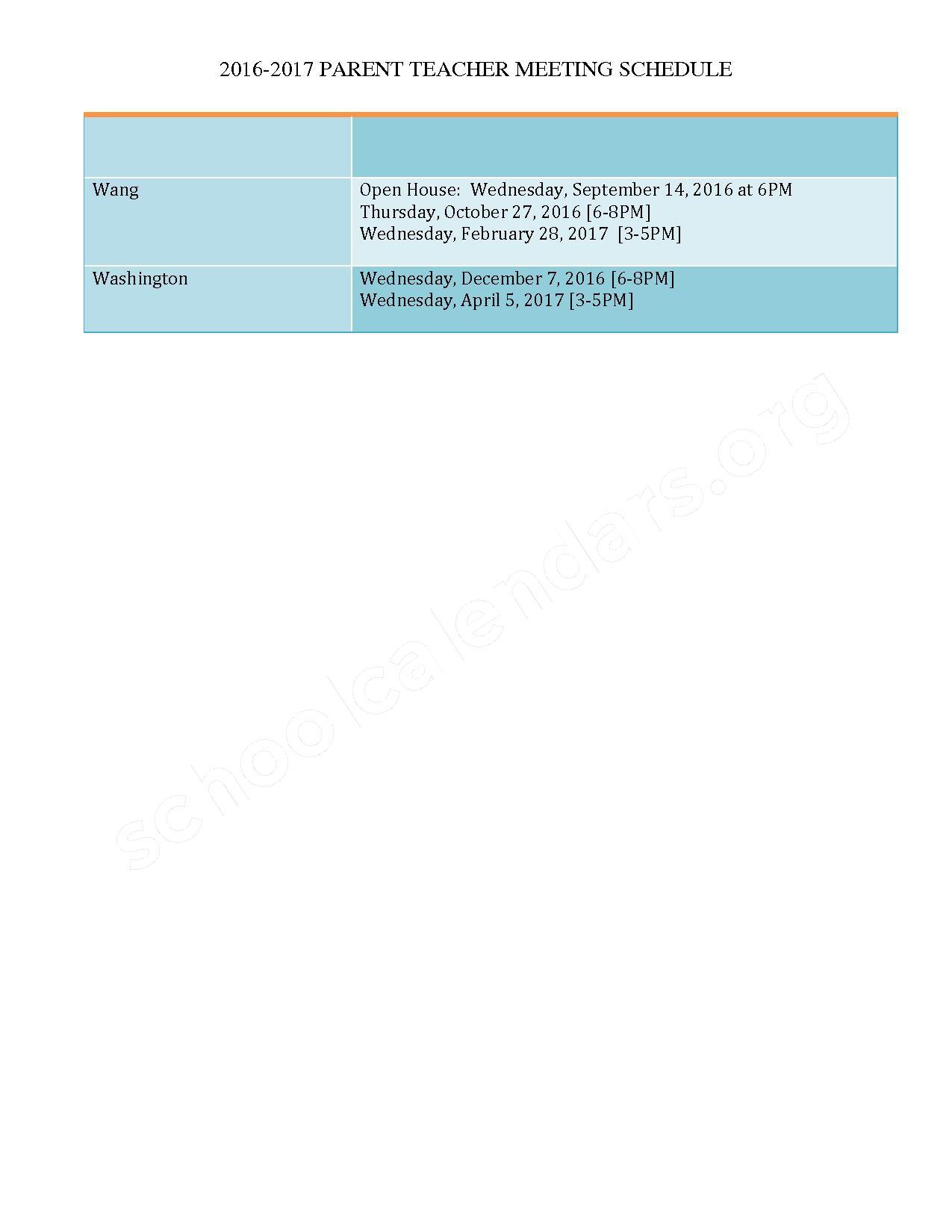 Parent Teacher Meeting Schedule 2016 - 2017 – Peter W Reilly – page 3