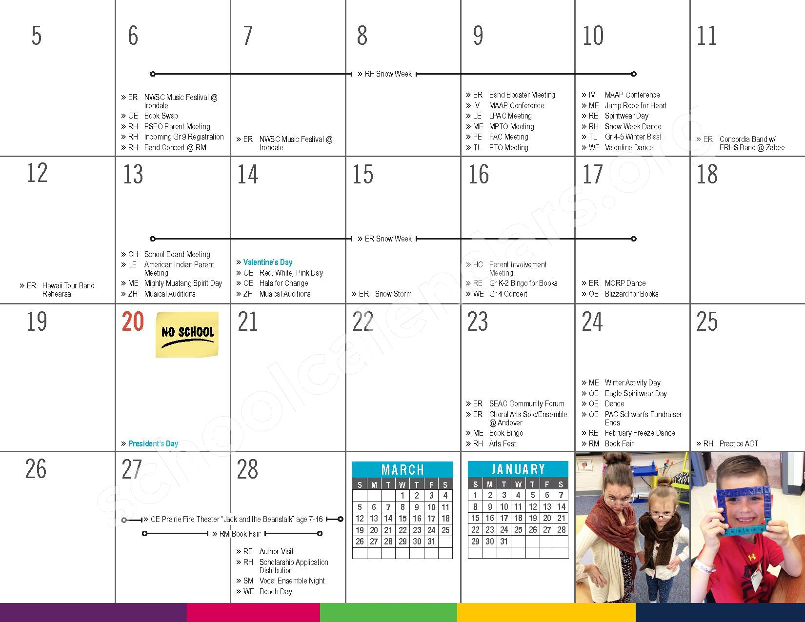 2016 - 2017 District Calendar – Elk River Public School District – page 17