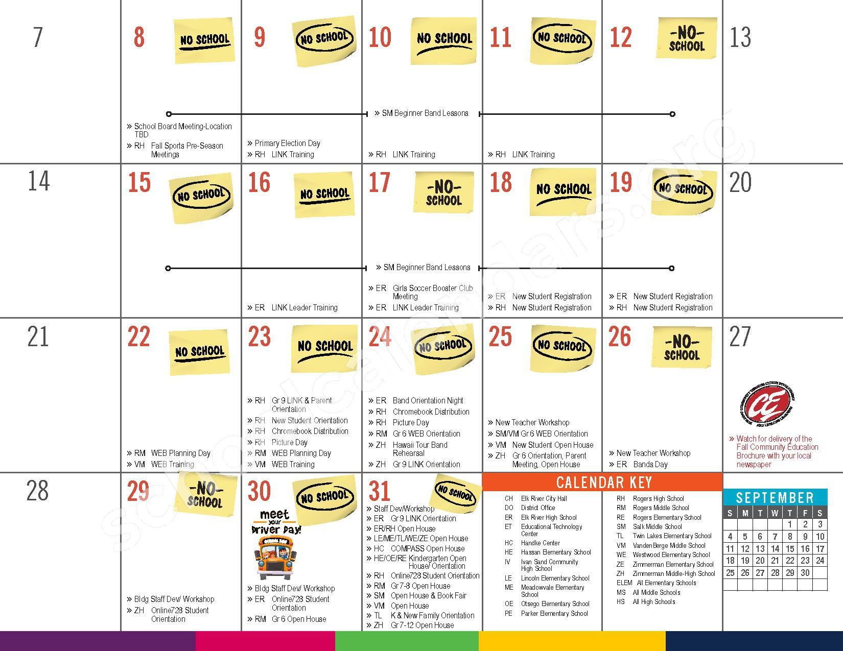 2016 - 2017 District Calendar – Elk River Public School District – page 5