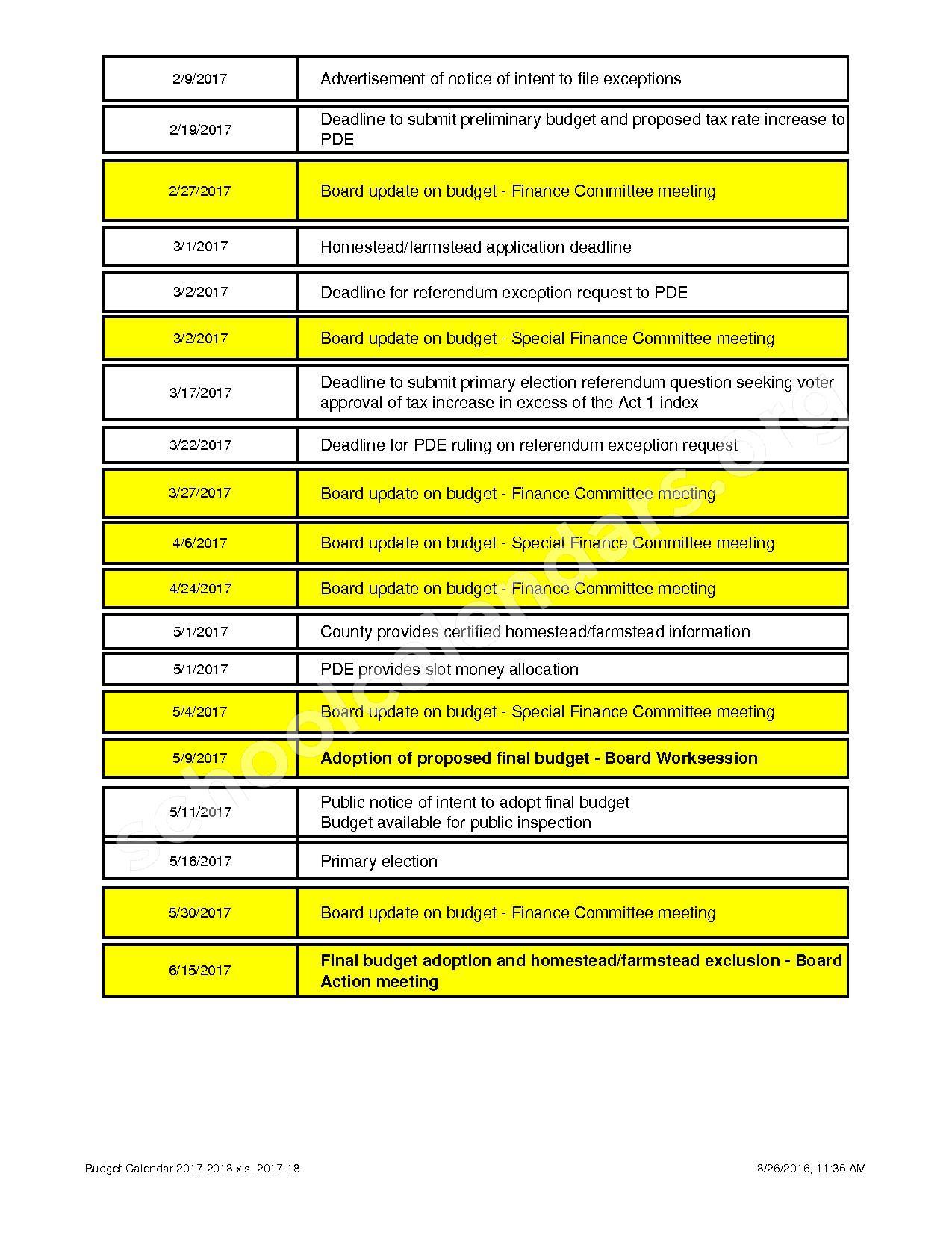 2017 - 2018 School Calendar – North Penn School District – page 2