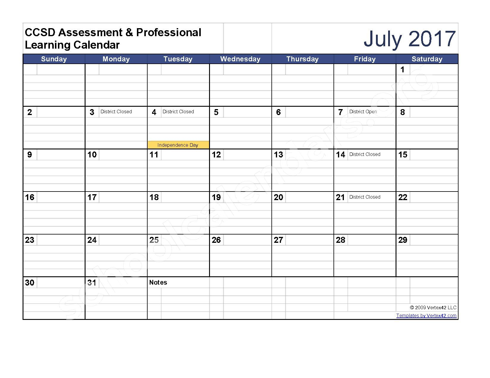 2016 - 2017 Assessment Calendar – Clarke County School District – page 12