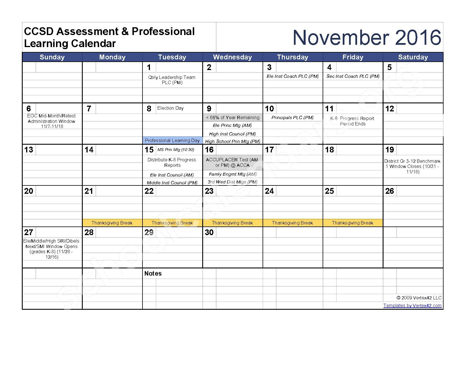 2016 - 2017 Assessment Calendar – Clarke County School District – page 4