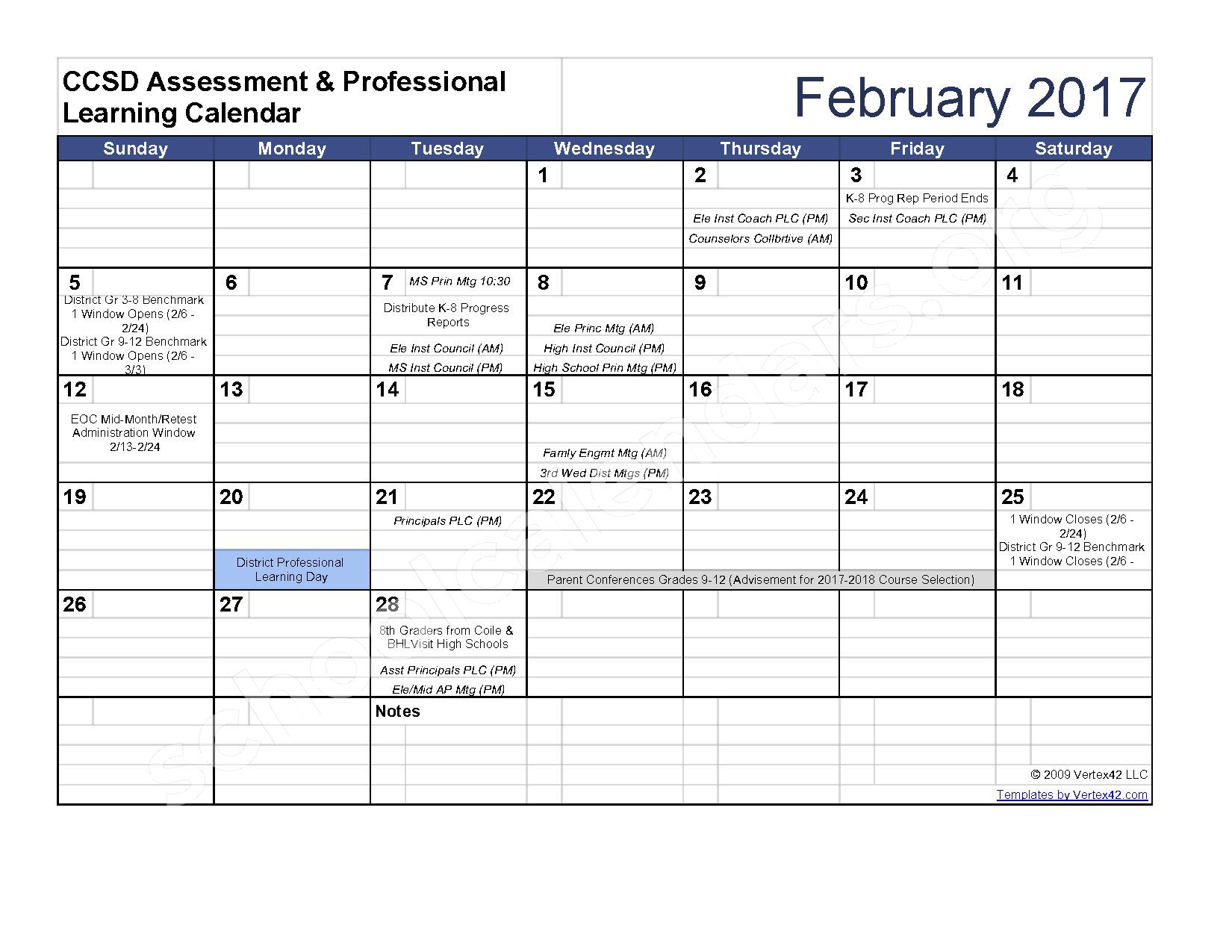 2016 - 2017 Assessment Calendar – Clarke County School District – page 7